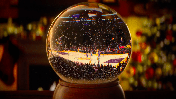 "NBA ""Ballin"" in a Christmas wonderland"